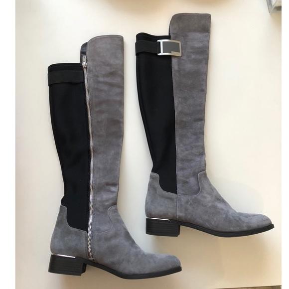 62a3c89b5bf Calvin Klein Shoes - Priya suede high Calvin Klein boots